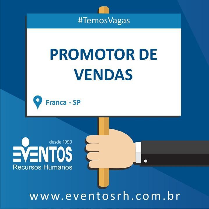 Vagas Promotor de Vendas Franca/SP